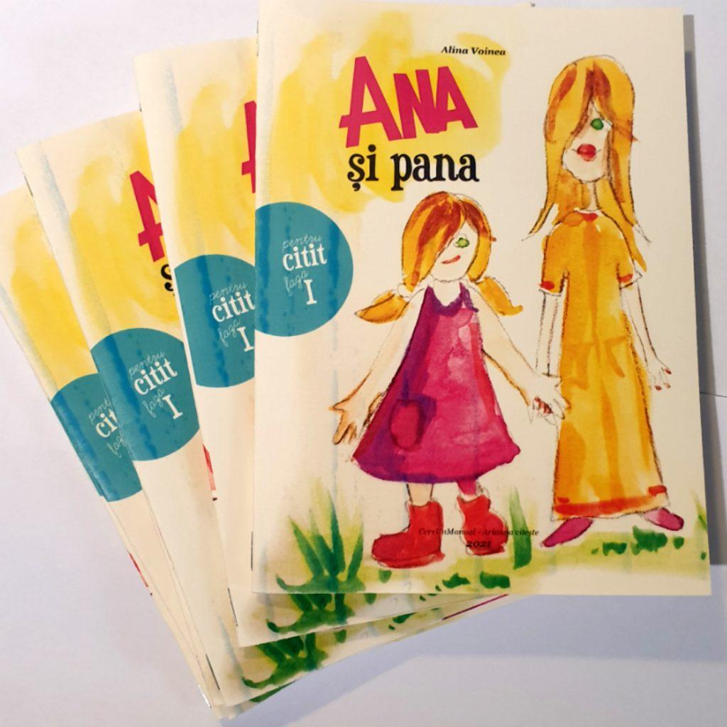 Carte simplă pentru învățarea cititului Faza 1 - Ana și pana